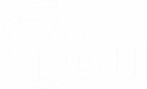 Logotipo de Llibreria Yoli color blanco